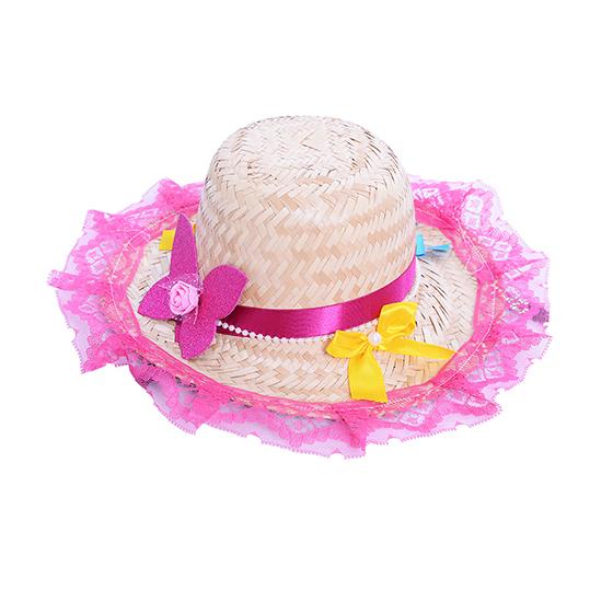 Chapéu de Palha Adulto Decorado Ref. 224