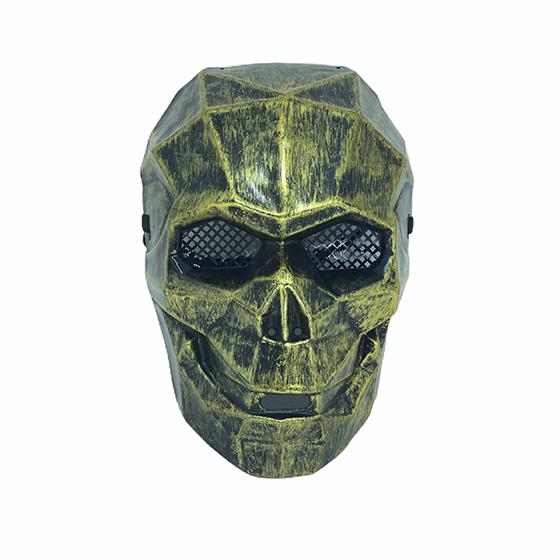Máscara Caveira Diamante Halloween Dourada