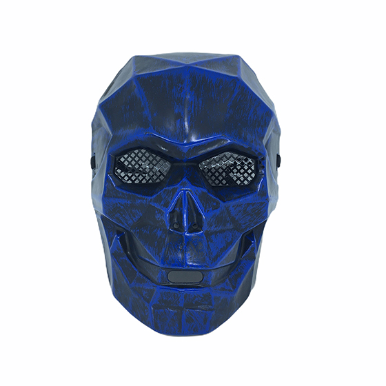 Máscara Caveira Diamante Halloween Azul