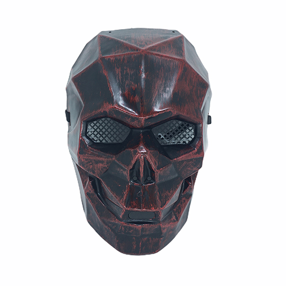 Máscara Caveira Diamante Halloween Vermelha