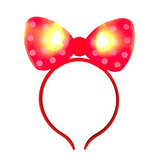 Tiara Minnie Pisca Vermelha