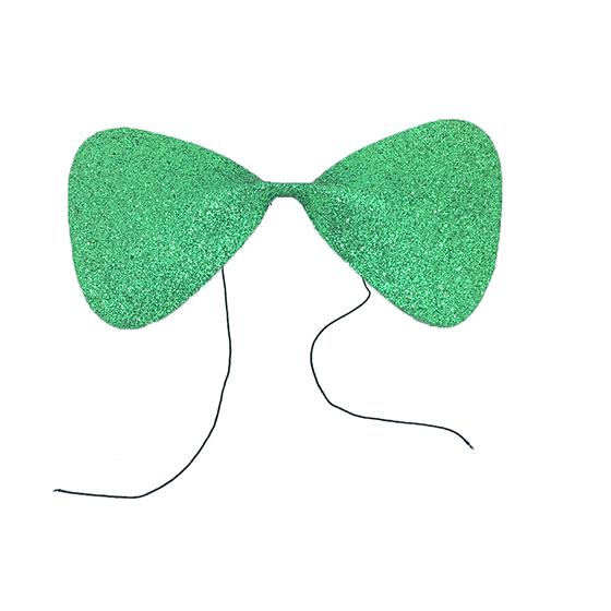 Gravata Borboleta Glitter EVA Verde Ref. 132C