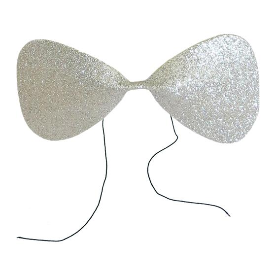 Gravata Borboleta Glitter EVA Prata Ref. 132H