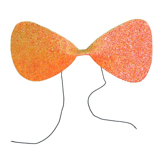 Gravata Borboleta Glitter EVA Laranja Ref. 132J