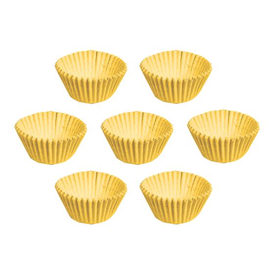 Forminha de Papel Lisa Número 5 Amarela - 100 unidades