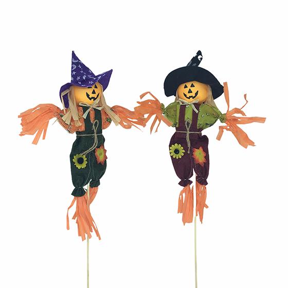 Enfeite Espantalho Palito Decoração de Halloween 40 cm