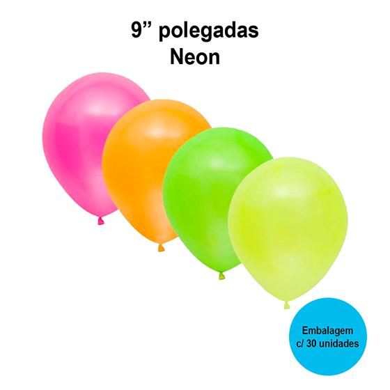 Balão Balloontech Neon 9'' Polegadas - 30 unidades