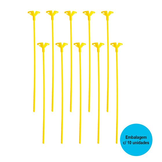 Vareta para Balão Amarela - 10 unidades