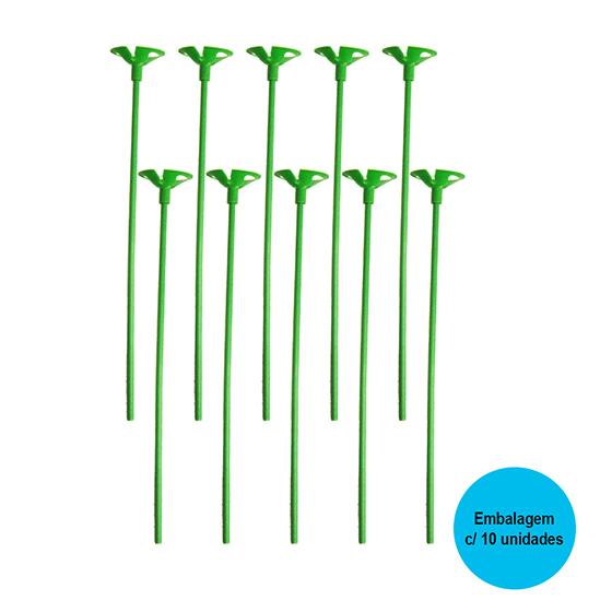 Vareta para Balão Verde - 10 unidades