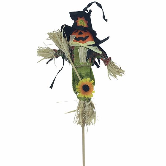 Espantalho no Palito Halloween Grande 50 cm