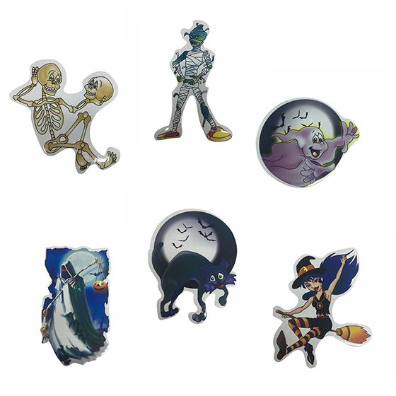 Aplique Decorativo Pequeno Halloween - 6 unidades