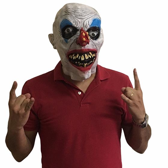 Máscara Látex Palhaço Assustador Halloween Cosplay