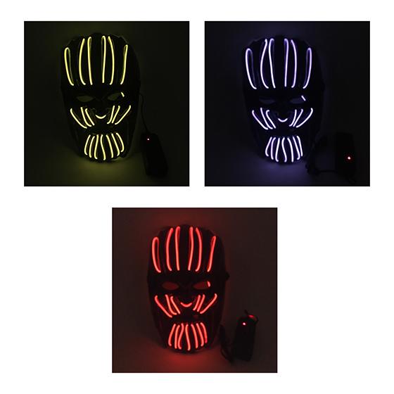 Máscara Led Neon Thanos Halloween Cosplay Envio 24h Promoção