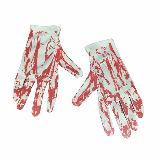 Kit Suspensório Halloween Mão Sangrenta Cosplay