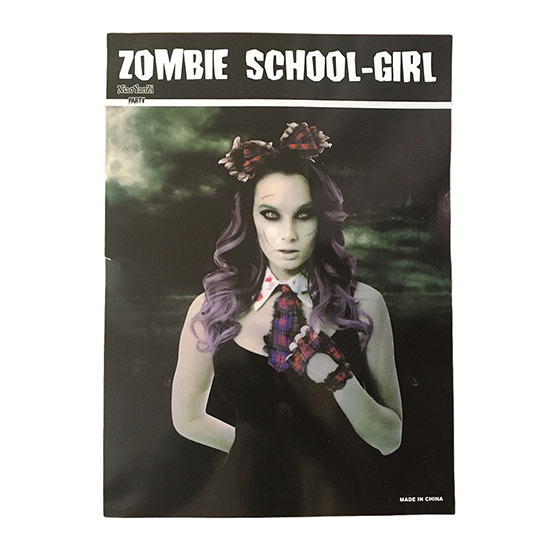 Kit Zumbi Feminino Importado Halloween Cosplay
