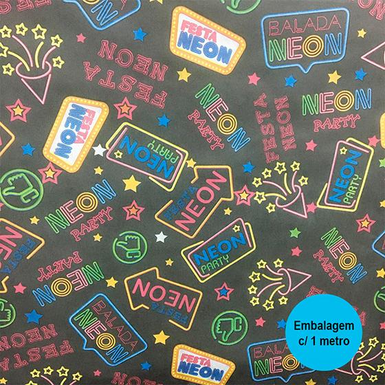 TNT Estampado Festa Neon - 1 metro