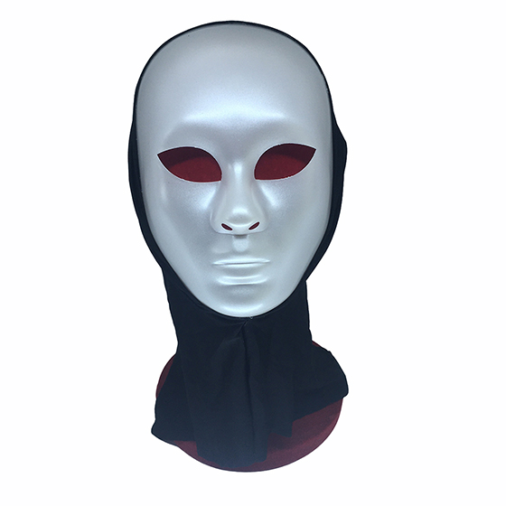 Máscara Alienígena Prata com Capuz Halloween Cosplay