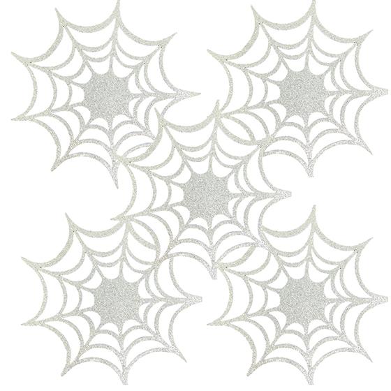 Teia de Aranha Eva Glitter Prata