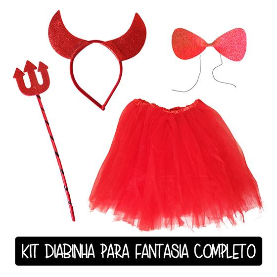 Kit Diabinha Vermelho Completo Carnaval Melhor Preço!
