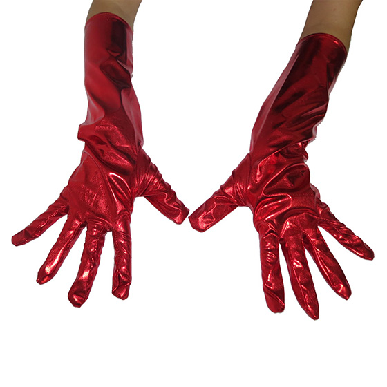 Luva Metalizada Lame 16 Adulto Vermelho