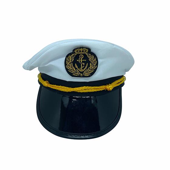 Chapéu Quepe de Marinheiro Luxo Fantasia Cosplay