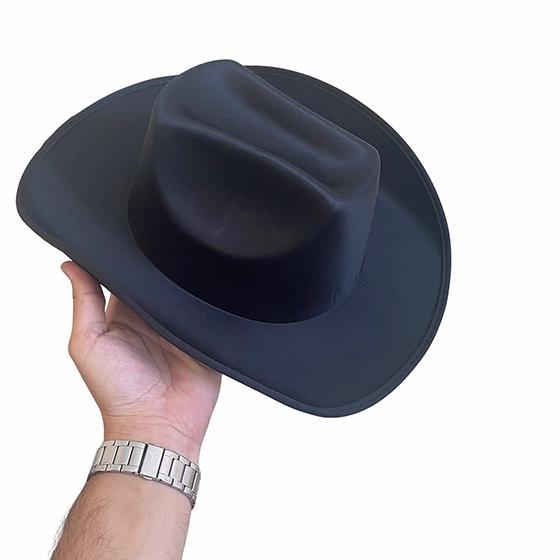 Chapéu Cowboy Liso Preto