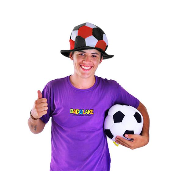 Chapéu Bola Times de Futebol Vermelho, Preto e Branco