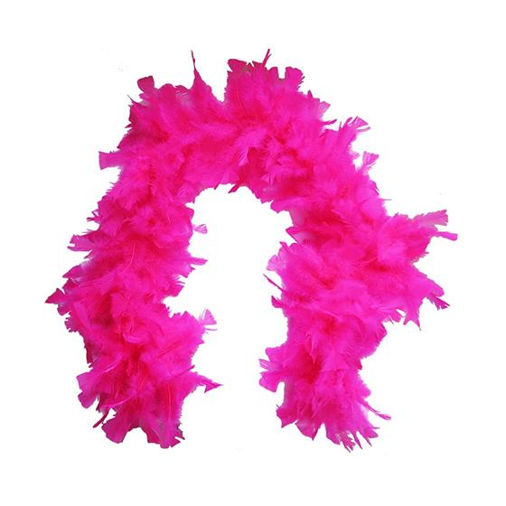 Estola Boá Grande de Penas Pink