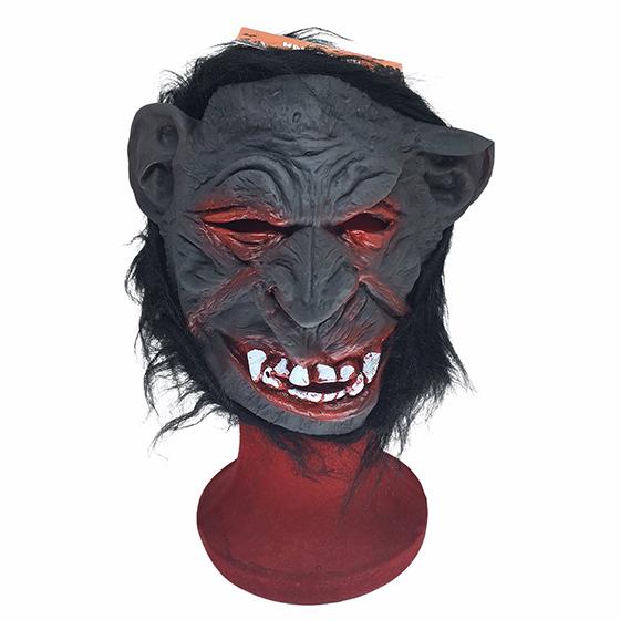 Máscara Macaco Gorila Preto Látex