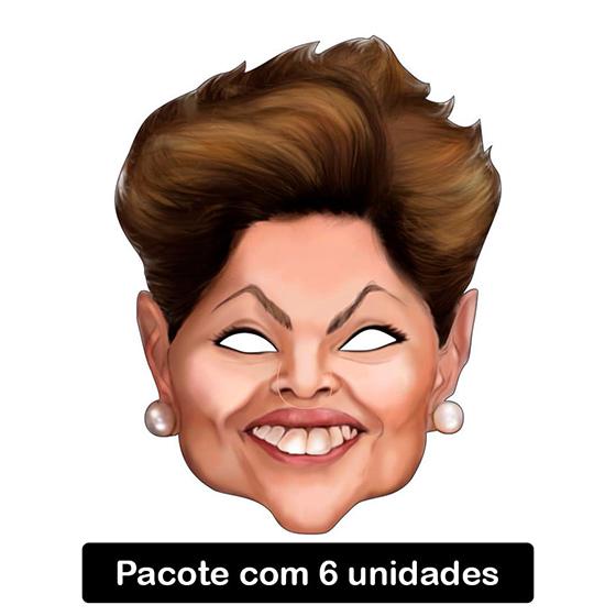 Máscara Dilma de Papel - 6 unidades