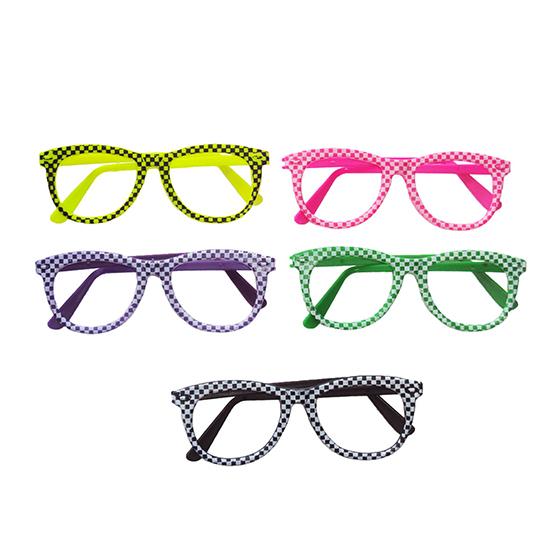 Óculos Quadrado Xadrez - 10 unidades