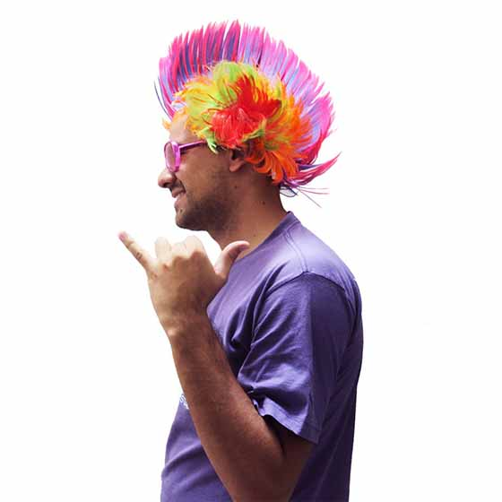 Peruca Moicano Colorida Carnaval