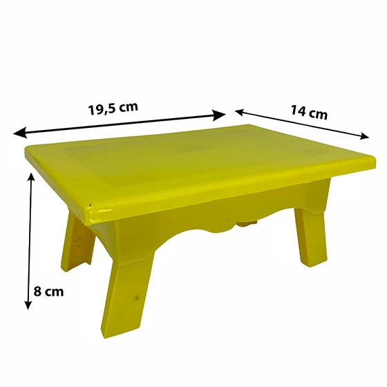 Mesinha para Doces 19,5 x 14 x 8 cm Amarela