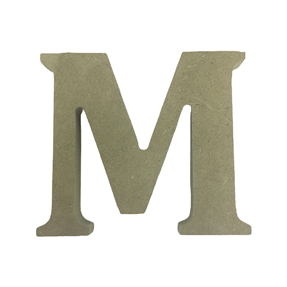 Letra M em MDF Crú