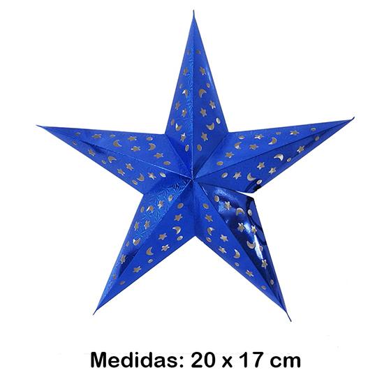 Luminária Estrela Mini Azul 20x17 cm