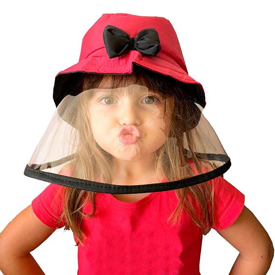 Chapéu Bucket Infantil com Proteção Facial Direto da Fábrica!