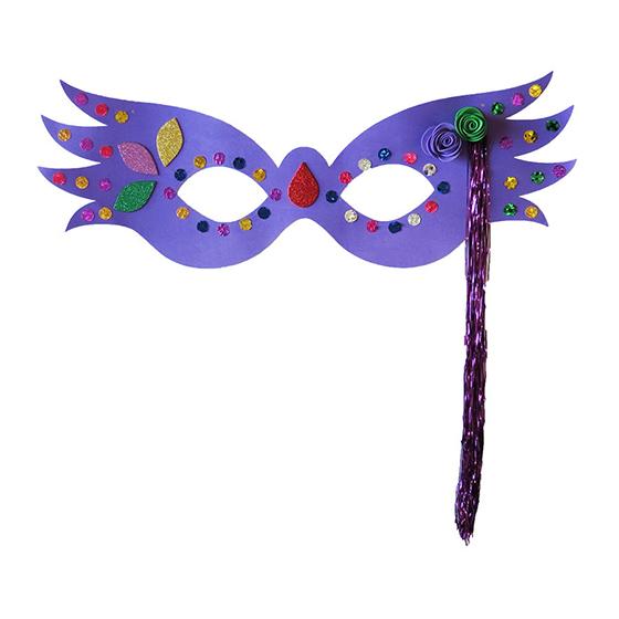 Máscara Carnaval Grande Luxo Roxa