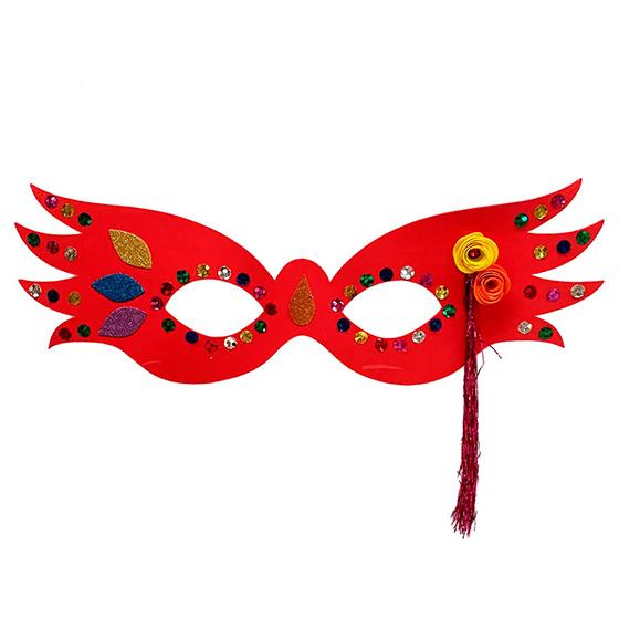 Máscara Carnaval Grande Luxo Vermelha
