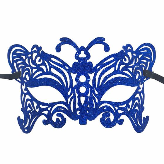 Máscara Mariposa Glitter Azul