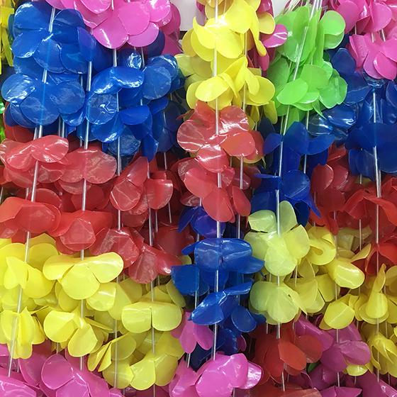 Colar Havaiano Tradicional Colorido - 12 unidades