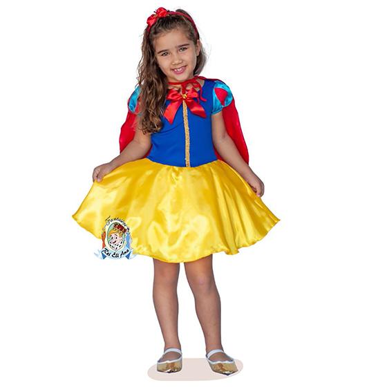 Fantasia Infantil Princesa Carolina Tamanho P