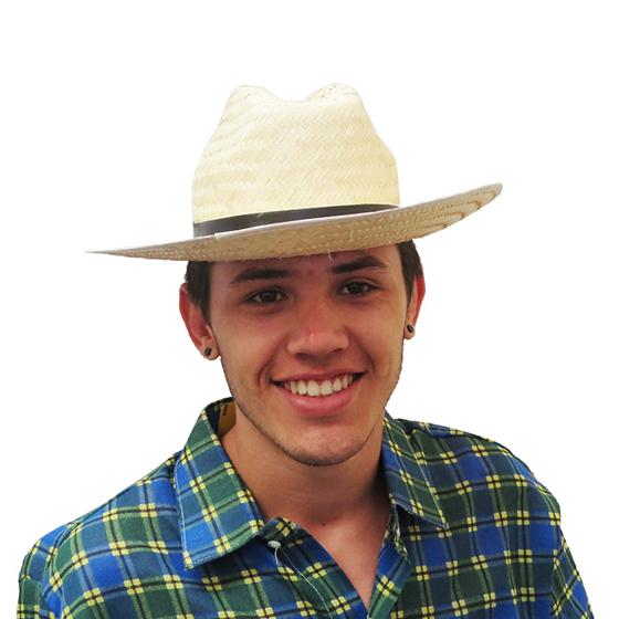 Chapéu Cowboy Palha Adulto