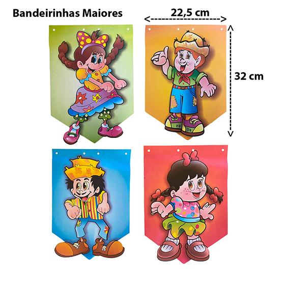 Bandeirinha Junina Personagens com 8 metros
