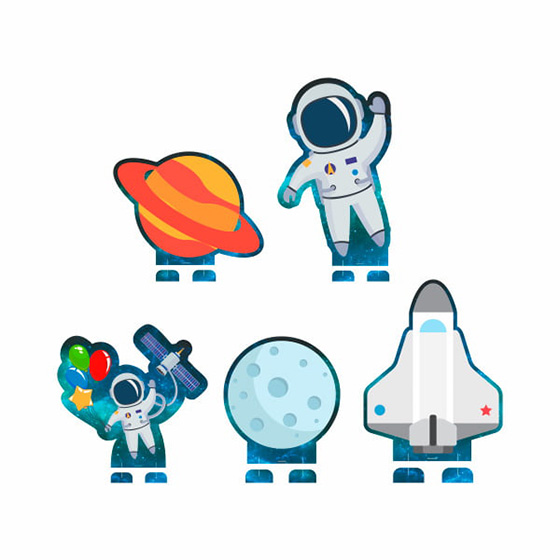 Display Decorativo para Mesa Astronauta - 05 unidades