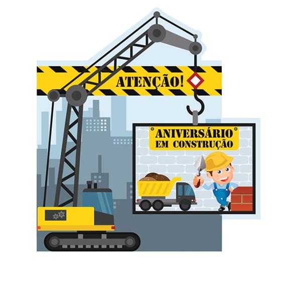 Convite Pequeno Construtor - 8 unidades