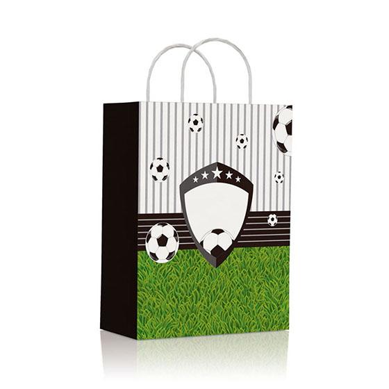 Sacola de Papel para Lembrancinhas Futebol - 10 unidades