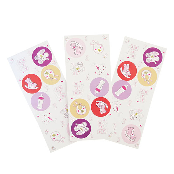 Adesivo Decorativo Redondo Bebê Rosa - 30 unidades