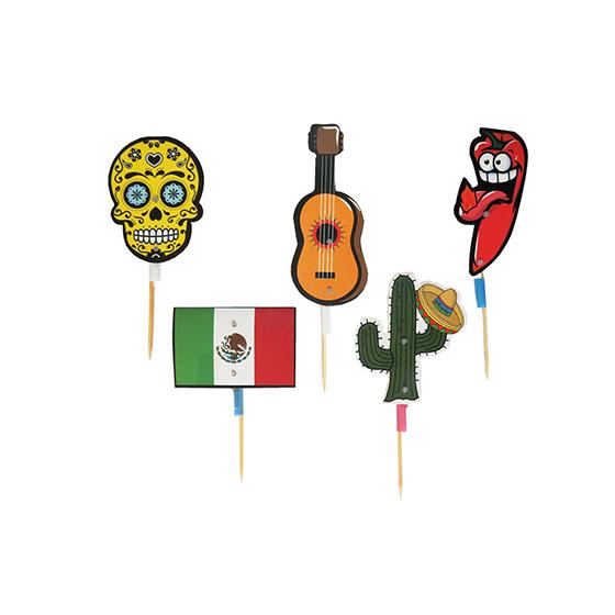 Palito Decorativo Mexicano - 10 unidades