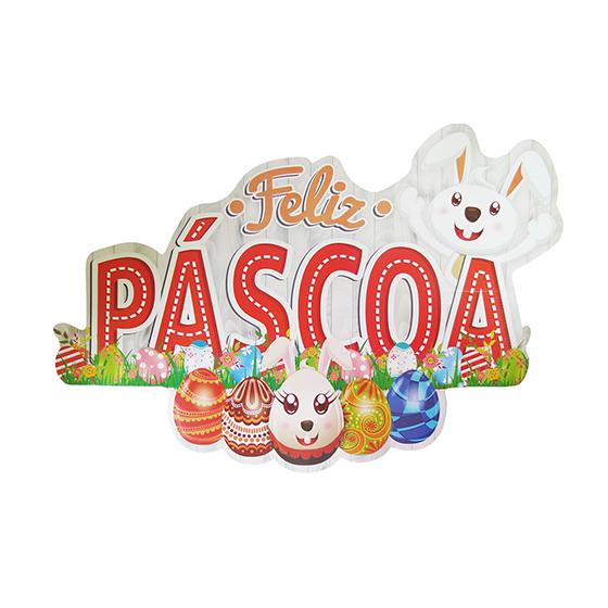 Painel Decorativo Feliz Páscoa