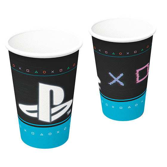 Copo Papel Playstation 200 ml - 8 unidades